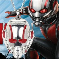 big headed ants - 10pcs jewelry silver plated alloy punk Alien face Movie Ant Man Head portrait Gas mask big pendant necklace boy girl women x292