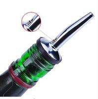 Wholesale Stainless Steel Liquor Spirit alcohol grape Pourer Flow Wine Bottle Pouring Spout Stopper Barware bar Oxygenating wine pourer