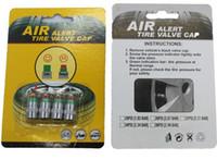 Wholesale 4pcs Tire Pressure Monitor Valve Stem Cap Sensor Indicator Psi Bar Air Warning Alert Valve Pressure Diagnostic Tools Kit