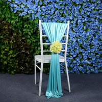 Wholesale 2016 High Quality charming Flower Chair Sash wedding Decorations centerpieces Chair Covers Wedding Accessories mulit color