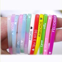 accesories for bracelets - 2016 fashion Glow gum for bracelets weaving elastics Silicone rubber band bracelet Wristband for women Hand ring rope accesories
