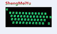 Wholesale Russian Letters ultrabright Fluorescence Luminous Keyboard STICKER