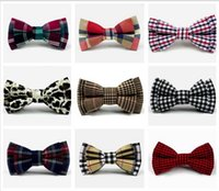 Wholesale Kids Bow Ties New Girls Boys Fashion Butterfly Cravat Bow Tie Children Formal Accessories Plaid Leopard Bow M