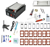 Wholesale Full Set Vacuum LCD Separator Machine With Moulds For Iphone Sumsung Touch Screen Glass Lens Repair Built in Pump