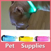 Wholesale Colorful Led Pet Dog Puppy Cat Kitten Soft Glossy Reflective Collar Safety Buckle Pet Supplies Products