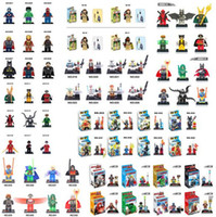 Wholesale Hot styles High Quality without box Mini Figure avenger super hero ironman batman Flash Building Blocks toys D650