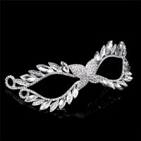 american metal supply - Mask European And American Rhinestone Alloying Imperial Crown Diamond Beautiful Mask Silver Masquerade Party Supplies Individually Packaged