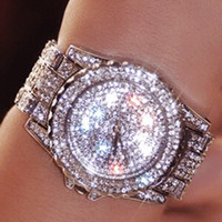 al por mayor relojes de pulsera para las señoras-Las mujeres famosas del diseñador de la marca de fábrica de lujo miran los nuevos relojes de plata 2016 del metal de las señoras del Rhinestone de los relojes del vestido de la manera del diamante liberan el envío