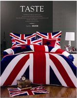 american unions - 2016 Sale Cotton Fabric British And American Flag Bedding Set Union Jack Twin queen king Duvet Cover Bedclothes Sets
