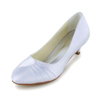 Wholesale Little Heel Round Toe Wedding Dress Shoe Bridal Shoes Wedding Dress Shoes Handmade Shoes for Wedding From Size35