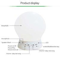 portable vibration speaker - Bluetooth Speaker Multicolor Silicone Yoga Lamp Speaker LED Music Mood Lamp Vibration Sensitive Color Change Emotional Night