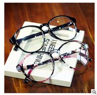 Wholesale 2016 South Korean Designer Fashion accessories Glasses Frame Vintage Round Eye Plain glasses Anti fatigue UV400 Eyewear