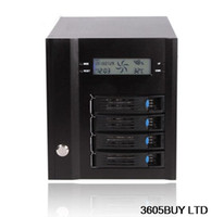Wholesale NAS case disc storage Hot plug SAS SATA hard aluminum alloy panel with LCD screen