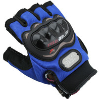 Wholesale Men Classic Trendy Racing Cycling Gloves Half Fingers Gloves Outdoors Sports Fitness Protective Gear Black Blue Red M XXL