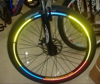 bicycle and accessories - Bicycle tire reflective label mountain bike colors cool bicycle wheel light Riding accessories and equipment