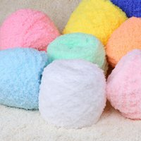 Wholesale 10Balls Super Soft Smooth Chunky Acrylic Mink Baby Knitting Wool Yarn Baby Skein Ball Yarn DIY Hand Knitting Craft Yarns Hand knitted Thread