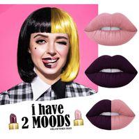 Cheap 2pcs lot NEW I have 2 moods velvet Lipgloss raven marshmallow Bubble liquid matte lipstick select one shade 2016 160721#
