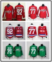 Wholesale High Quality Mens Washington Capitals Jersey Alex Ovechkin Braden Holtby TJ Oshie Evgeny Kuznetsov Ice Hockey Jersey Home Red Green Color