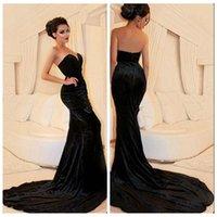 abayas online - Dubai Abaya Arabic Mermaid Evening Dresses Sexy Sweetheart Velvet Sweep Train Slim Prom Dress Custom Online