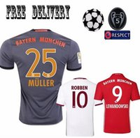 Wholesale Best Quality Third Suite Bayern Away Jersey MULLER Robben GÖTZEBOATENG Alabama VIDAL COSTA Lewandowski shirts