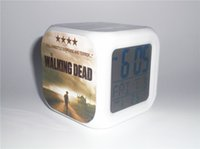 Wholesale New The Walking Dead Creative Led Alarm Clock Desk Clock Digital Alarm Clock with Snooze Calendar Thermometer Kids Toy