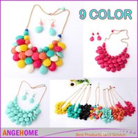 adorn engagement rings - Necklace Set necklace ear ring water droplets necklace suit Multicolor Necklace Suit fashion clavicle chain adorn article