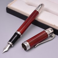 Wholesale Unique Design Marine Classic Jules Verne Special Edition Red Fountain Pen Luxury Office School Stationery Brand Ink Pen Gift