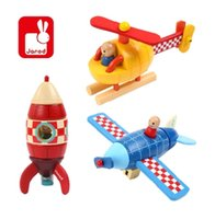 airplane magnets - Janod Rocket Helicopter Airplane Magnet Kit Wooden Toys Kids Educational Puzzle Assemble Toys Gift