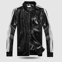 Cheap 2016 Baseball Uniform Jacket PU Machine Wagon Jacket Tide Male Lovers Stand Collar Faux Leather Men Clothing
