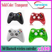 100pcs Xbox 360 sans fil 2,4 GHz jeu sans fil Télécommande Gamepad Joystick pour Xbox360 Controller YX-360-01