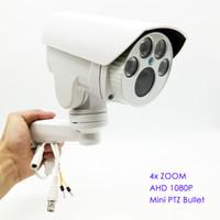 Precio de Definición de enfoque-Cámara de bala analógica de alta definición AHD MINI PTZ IR al aire libre Full HD 1080P 960P 4X Zoom de enfoque automático 2.8-12mm Varifocal 2MP