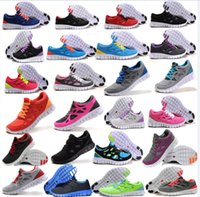 Wholesale 2016 Discount Mens womens free run running shoes comfort sporting walking lightweight Athletic Breathable shoes sneakers size