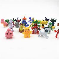 Wholesale 144Pcs Poke Go Figures Cute Pocket Monster Minifigure Random Combination Figure Hot Poke Action Figure Toy cm