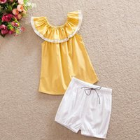 baby mustard - Easter Girls Clothing Set Little Girls Sleeveless Ruffle Top Short set First Birthday Girls short Mustard Baby clothes