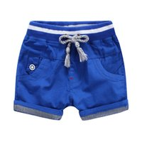 bamboo baby boy short - Korea children clothing Baby boys shorts Rolled hem breathable washed cotton linen bamboo beach shorts Summer mini shorts striped