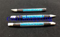 Wholesale 3Pcs Rhinestone Nail Art Brushes Silicone Head Nail Brush Pencil With Acrylic Handle