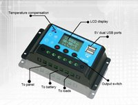 automatic solar controller - Auto A V V LCD Display USB Solar Panel Regulator Automatic Home Charge Controller
