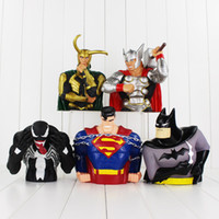 batman bank - 5 styles The Avengers Super Man Batman Thor Piggy Bank PVC Action Figures Collectable model toy piggy bank for kids gift