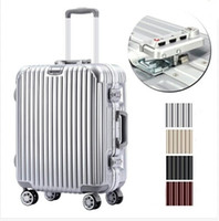 Wholesale trolley bag with tsa lock hook up pc aluiminum frame university wheel rolling carry ons luggage travel suitcase