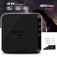 Wholesale M8S Pro K Android TV Box Pre installed RK3229 Quad core Miracast Kodi Box GB GB K2K H D GHz WiFi LAN Smart HD Media Player