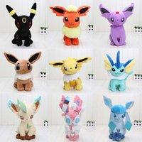 Cheap 30cm Poke Center Plush toys Pikachu dolls Jolteon Umbreon Flareon Eevee Espeon Vaporeon Kids Christmas gifts 6pcs lot