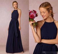 beach dress weddings - 2016 Boho Navy Blue Burgundy Beach Blush Bridesmaid Dresses For Weddings Formal Bridesmaids Dress Long Chiffon Plus Size Evening Party Gowns
