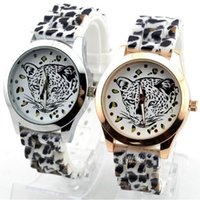Women's leopard watches - Women s Leopard watch gold color Silicone Wristwatches Quartz Ladies dress watch dropship digital time Sport Watch