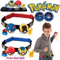 ball belt - 2016 Zorn toys Poke go Pokémon Clip N Carry Poke Ball Belt plastic poke ball action figure doll Pikachu Style random