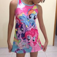 Wholesale summer girls clothing my little pony sleeveless girl dress roupas infantis menina ropa de ninas vestido infantil new