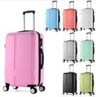abs luggage case - 24 quot Frosted ABS Hardside Luggages solid trolley travel bags case suitcase universal wheel rolling luggage