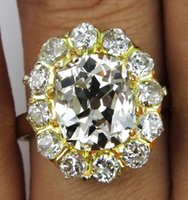 antique cushion diamond - 4 CT ANTIQUE VINTAGE OLD CUSHION DIAMOND ENGAGEMENT WEDDING CLUSTER RING EGL