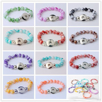 Wholesale 2017 NOOSA Snap Button Bracelet Bangles mm Resin Stone Beads mm Snaps High Quality DIY Snap Buttons Jewelry Single Snap