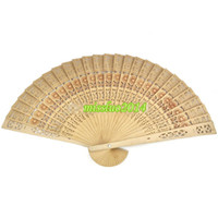 antique chinese wood carving - cheap chinese carved folding fragrance wood hand fans Hot Selling via DHL Fedex UPS