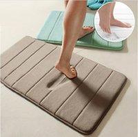 Wholesale x60cm Coral Velvet Memory Foam Rug Bathroom Mat Soft Non slip Floor Carpet soft comfortable and super absorbent